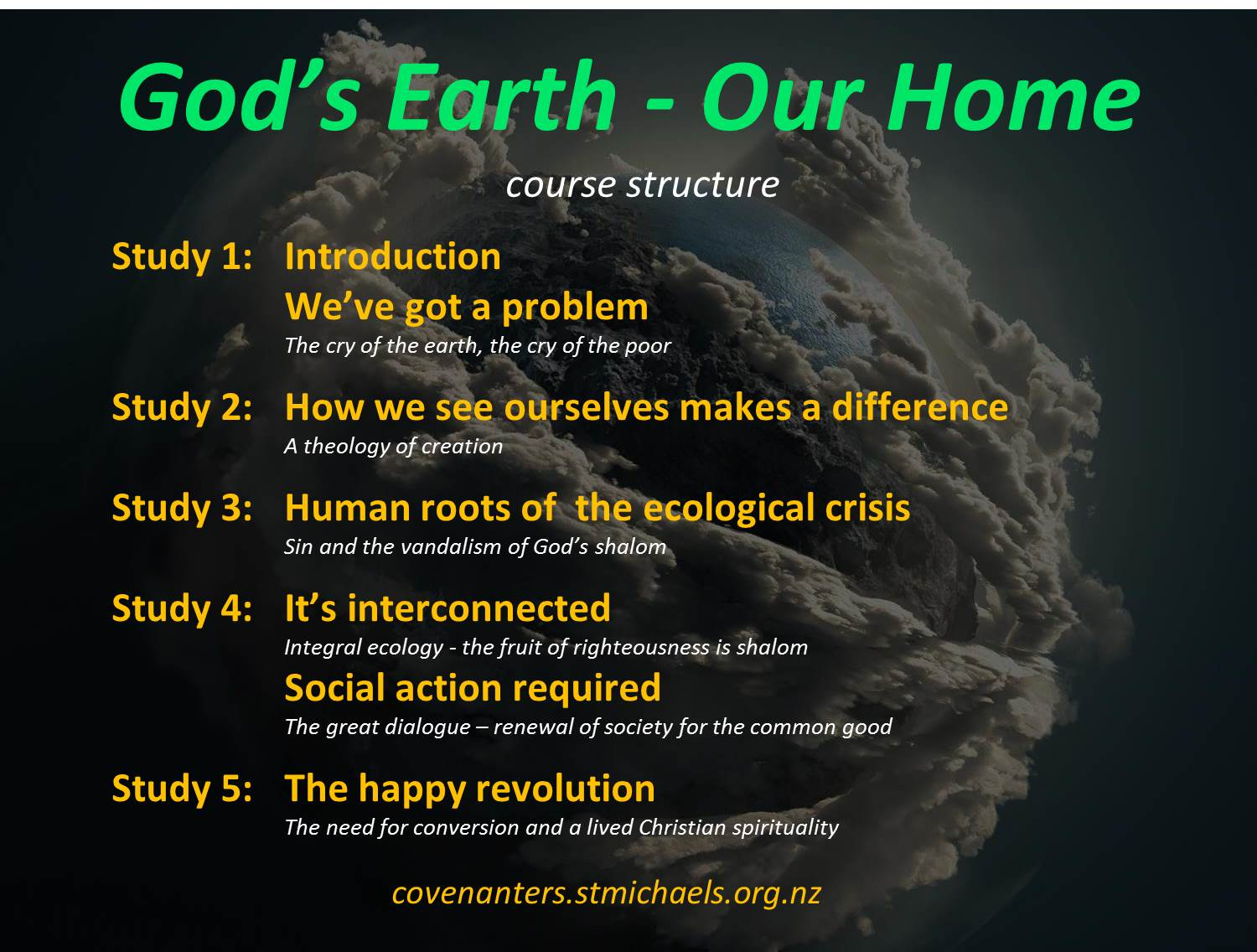 God's Earth - series structure